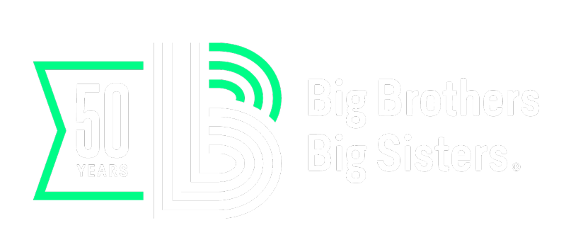 Big Brothers Big Sisters 50th Anniversary Logo